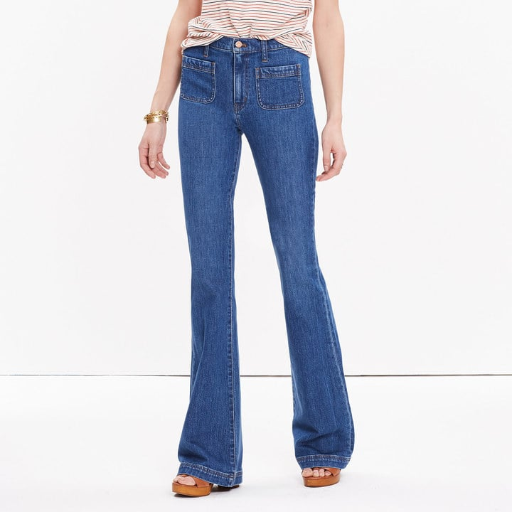 Madewell 'Flea Market' Flare Jeans: Sailor Edition in Lucy Wash ($135)