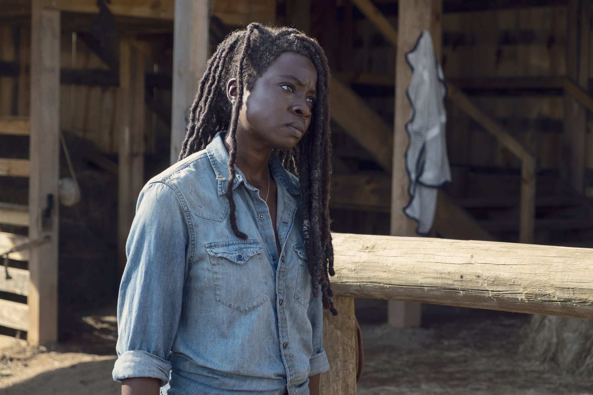 Danai Gurira as Michonne - The Walking Dead _ Season 9, Episode 8 - Photo Credit: Gene Page/AMC