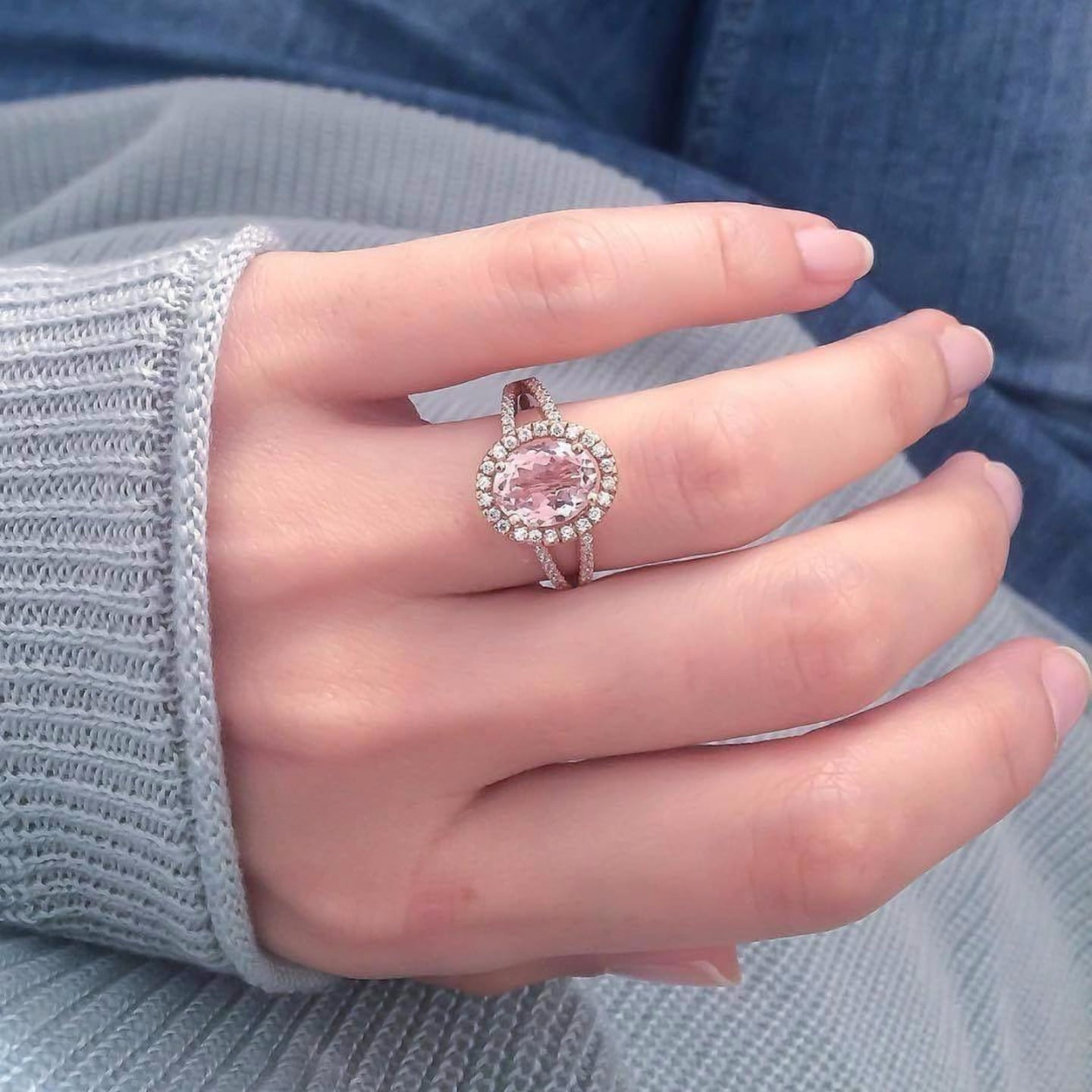 Morganite Engagement Rings | POPSUGAR Love UK