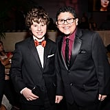 Modern Family stars Rico Rodriguez and Nolan Gould attended the Fox bash.