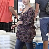 Reese Witherspoon prepared for a day of traveling looking cute and casual.