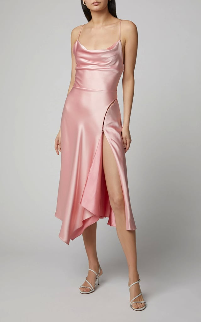 Jonathan Simkhai Asymmetric Satin Slip Dress