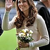 Kate Middleton in a Beige Knit