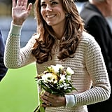 Kate looked casually cool in her chunky knit while watching Rippa Rugby  at Forstyth Barr Stadium.