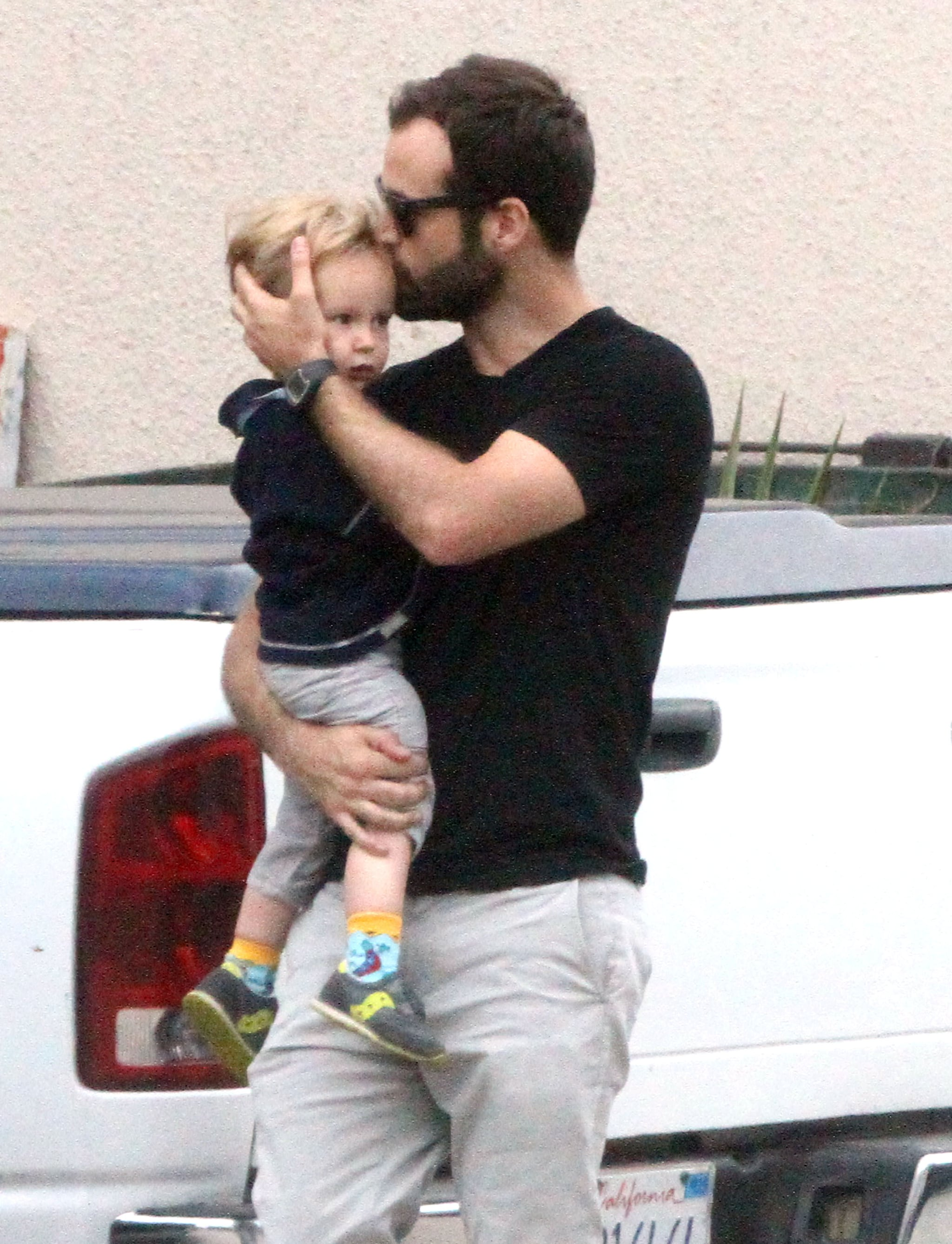 Benjamin Millepied shared a sweet moment with his son, Aleph.