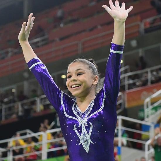 Brazil's Flavia Saraiva at Beam Qualifications Olympics 2016