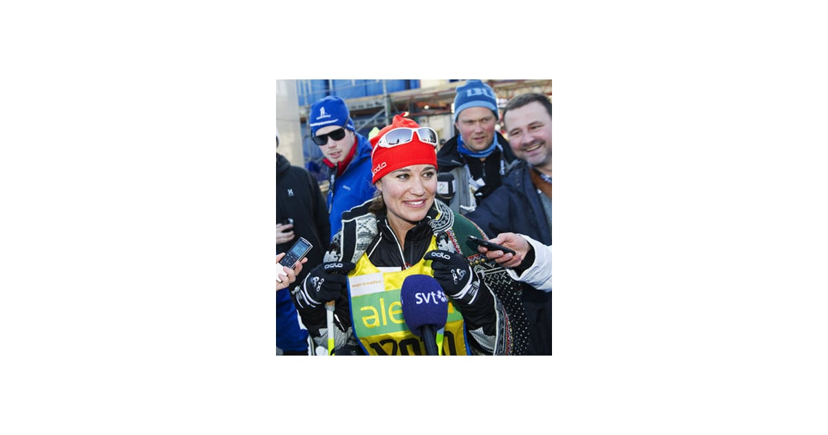 Video and pictures of pippa middleton skiing cross country for Charity motors 8 mile lahser