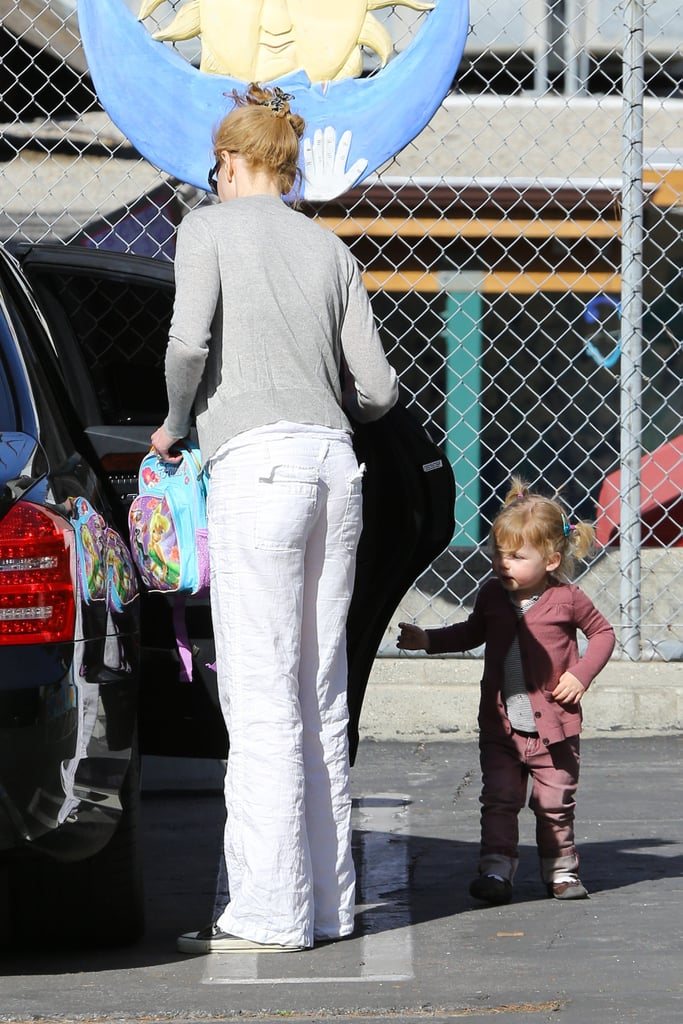 Nicole Kidman picked up her younger daughter Faith Margaret from day care in LA on Jan. 22.