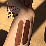 Comparison of Kylie Lip Kits in Brown Sugar and True Brown K