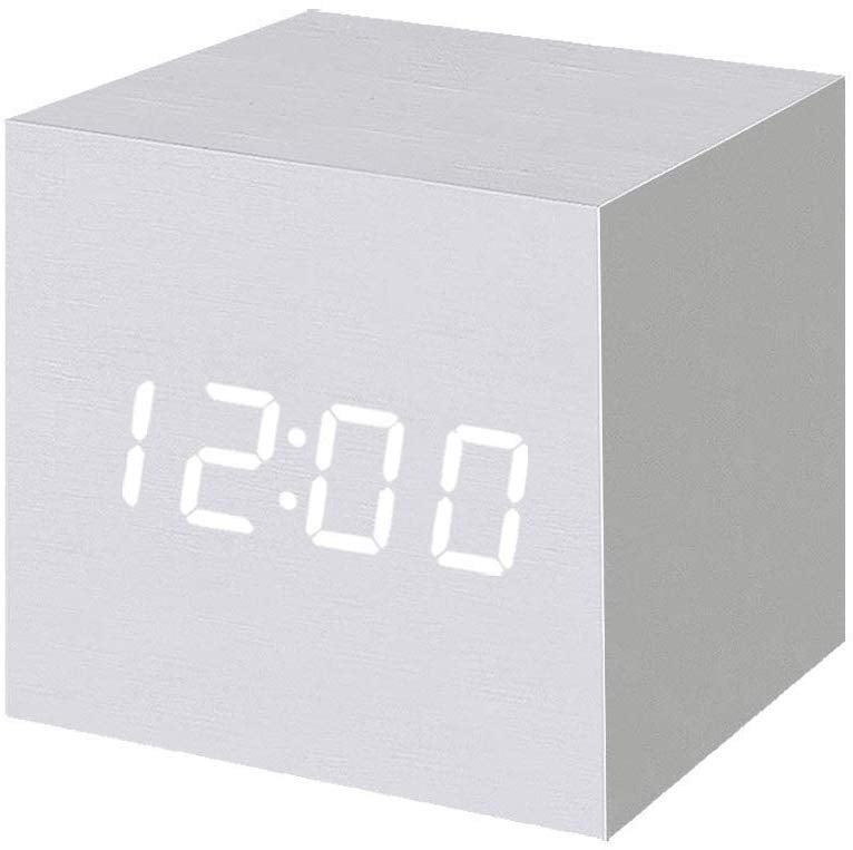 Wood Alarm Clock Digital LED Light