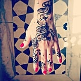 Lauren Conrad sported henna art on her hand.  Source: Instagram user laurenconrad