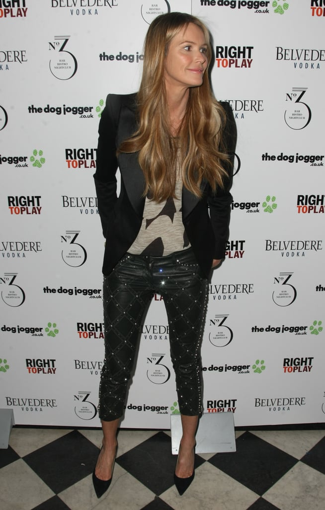 Elle Macpherson arrived at the event in London.