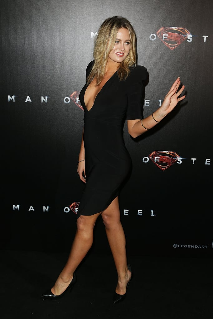 Jesinta Campbell wowed the crowds in her sexy dress at the Man of Steel premiere in Sydney on June 24.
