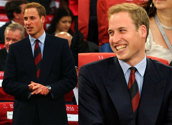 27/5/2009 Prince William at Champions League Final