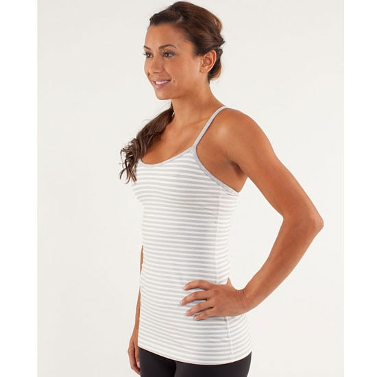Behond! The iconic Lululemon tank. These puppies fit like a dream; tight up top to reduce bounce (the inner-shelf bra fits like a dream) but looser at the hem so you don't feel squeezed in like a sausage. Clever.  Tank, $69, Lululemon