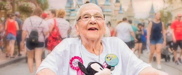 Woman Celebrates 100th Birthday at Disney World