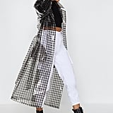 Nasty Gal! Check Clear Trench Coat