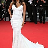 Who better to end this mermaid gallery than the mermaid queen, Eva Longoria? She chose a, let's face it, bridal fishtail dress by Gabriela Cadena that featured intricate beading and a sculpted neckline.