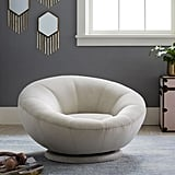 Lustre Velvet Groovy Swivel Chair