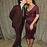The singer was practically blushing as she received a kiss from designer Zac Posen at his show during Fashion Week in 2015.