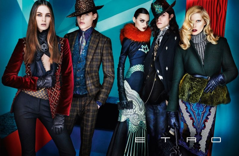 Cool Fall wares and luxurious layers rule Etro's Fall collection.