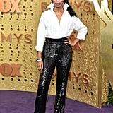 Kerry Washington's Crystal Nail Art at the Emmys