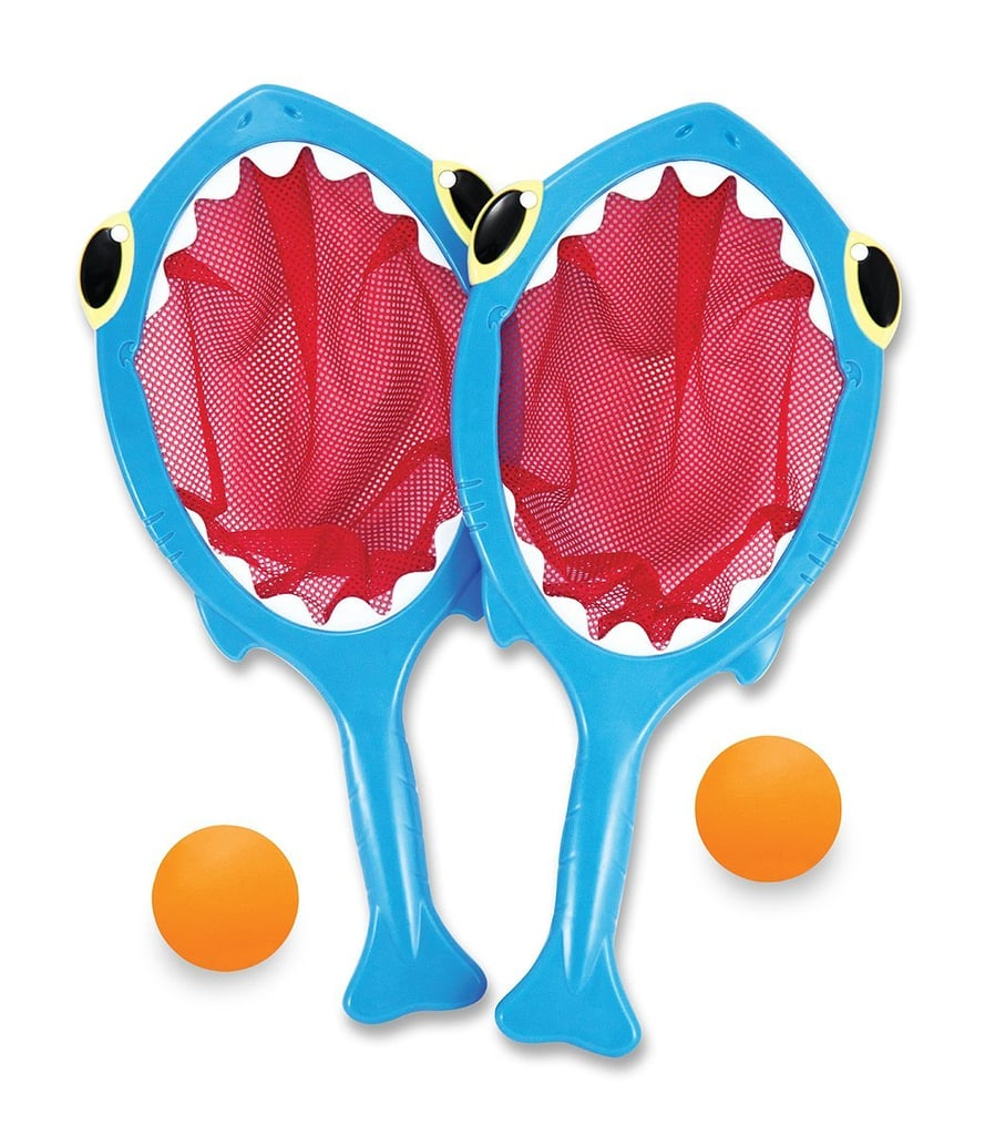 Melissa & Doug Sunny Patch Spark Shark Toss and Catch Net Pool Game