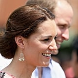 During her Spring tour of India and Bhutan alone, Kate showcased seven new pairs of earrings — with wildly varying price tags. First up were the Filigree Bead Short Drop Earrings from Accessorize for $11, which Kate wore for many of her engagements in India.
