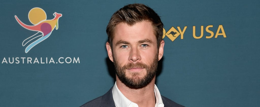 Get Lost in Chris Hemsworth's Gorgeous Blue Eyes With His Latest Red Carpet Outing