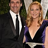 John Hamm and Jennifer Westfeldt at the Vanity Fair party.