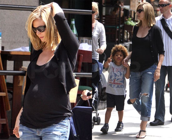 Photos of Heidi Klum and Henry in NYC