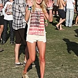 Kate Bosworth wore her American pride on her shirt at Coachella in 2011.