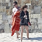Rande Gerber and Cindy Crawford enjoyed the Mexican sun.