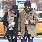 Andrew Garfield and Emma Stone made a Monday morning coffee run in NYC.