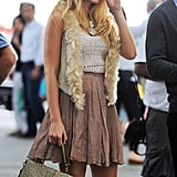 Blake Lively's back on the East Coast filming Gossip Girl.