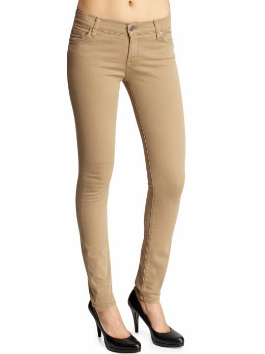 Slim jeans have been around for a long time, but the khaki color on these 7 For All Mankind The Skinny Jeans ($89, originally $149) makes them super fresh.
