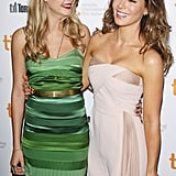 Cara Delevingne and Kate Beckinsale had a giggle fest on the red carpet at the premiere of The Face of an Angel.