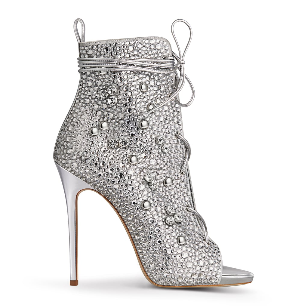 The Lynda crystal bootie ($2,995) is as sparkly as J Lo's mom, where the shoe's name comes from. The stunning shoe comes in rose gold and silver.