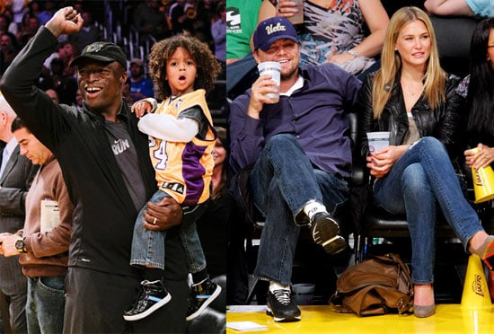 Pictures of Leonardo DiCaprio, Bar Refaeli, Seal, Henry Samuel, and Johan Samuel at the Lakers vs. Thunder Game