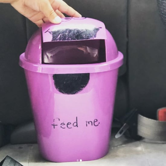 Mom Makes Monster Garbage Can For the Car