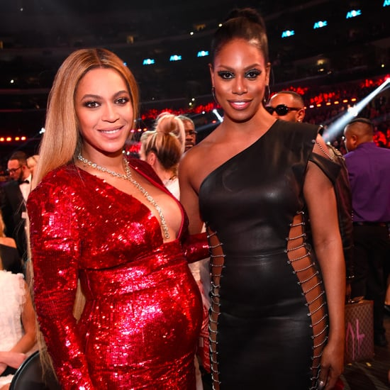 Laverne Cox and Beyonce at the 2017 Grammys Pictures