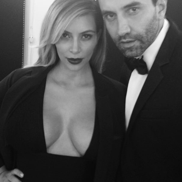 "On Tuesday, Kim Kardashian posted a picture with Givenchy's Riccardo Tisci, saying, ""My date tonight."" Source: Instagram user kimkardashian"