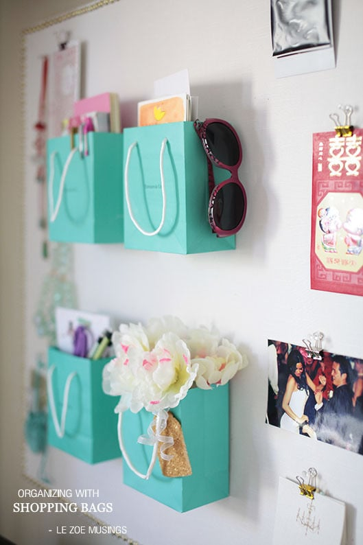 Diy Organization Part - 17: Shopping-Bag Organizer
