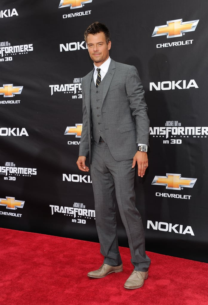 Josh Duhamel looking dapper in a suit at the Transformers: Dark of the Moon NYC premiere.