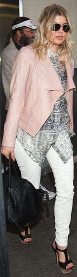 Fergie Pink Leather Jacket