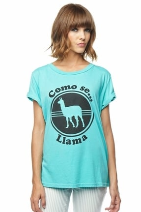 Local Celebrity Como Se Llama Schiffer Tee in Pool ($48)