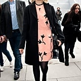 Dianna Agron sported a sweet Miu Miu frock to the label's A/W show.