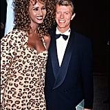 Iman et David Bowie en 1991