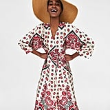 Zara Printed Wrap Dress