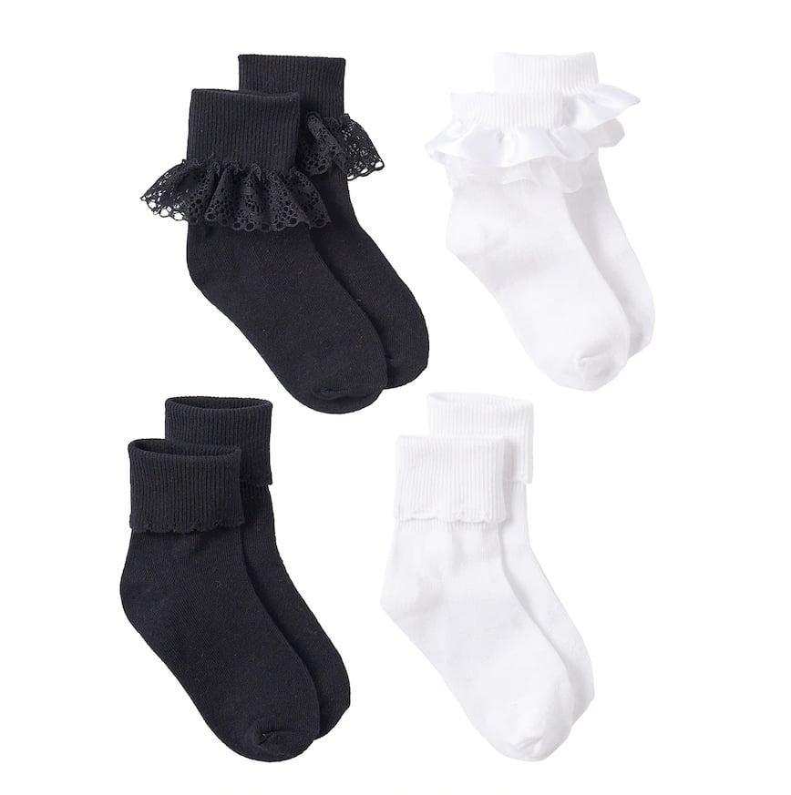 Lace Turn-Cuff Socks